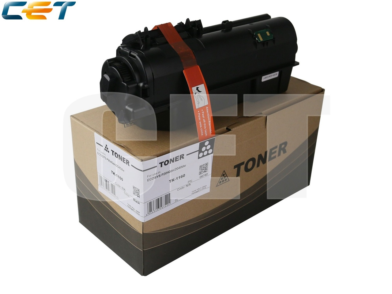 Тонер-картридж (PK9) TK-1160 для KYOCERA ECOSYSP2040dn/P2040dw (CET), 280г, 7200 стр., CET6740