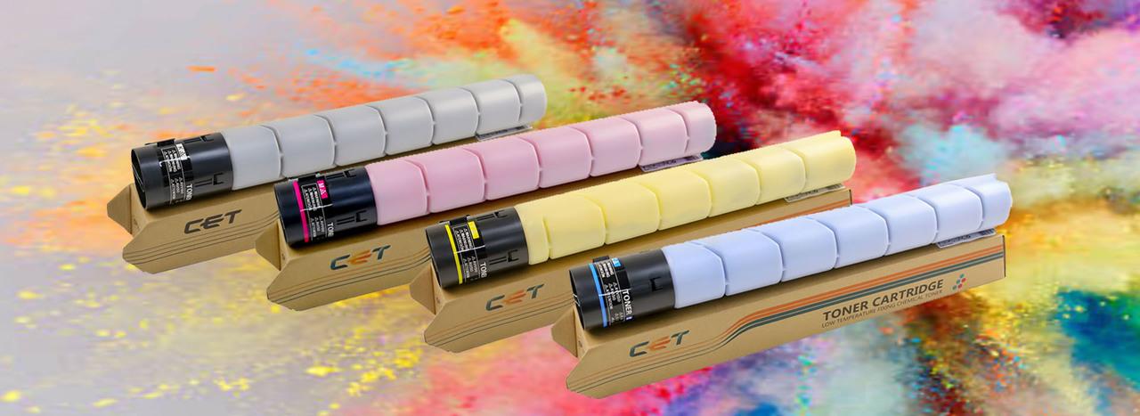 Химический тонер и картриджи для цветных МФУ Konica Minolta Bizhub C227/C287 и Bizhub C258/C308/C368