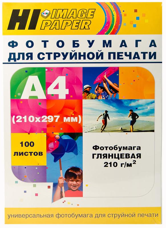 Фотобумага Hi-Image Paper глянцевая односторонняя, A4, 210г/м2, 100 л.