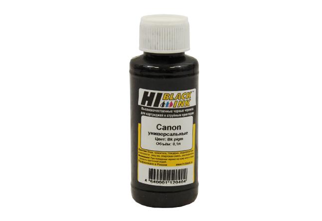 Чернила Hi-Black Универсальные для Canon (Тип C),Пигментные, Bk, 0,1 л.