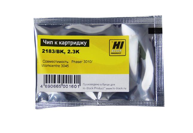 Чип Hi-Black к картриджу Xerox Phaser 3010/3040/WC3045(106R02183), Bk, 2,3K