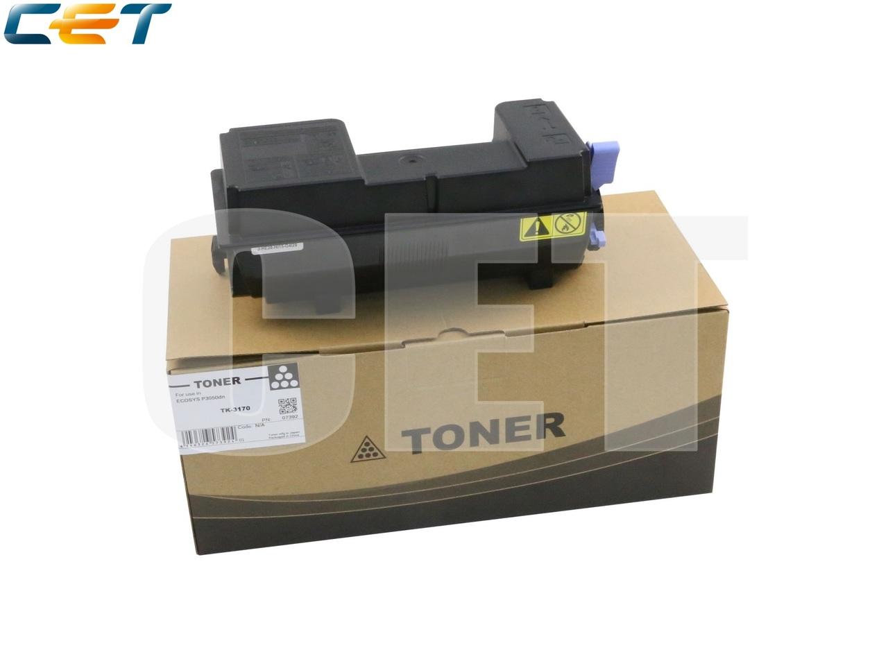 Тонер-картридж (PK9/PK10) TK-3170 для KYOCERA ECOSYSP3050dn (CET), 430г, 15500 стр., CET7392