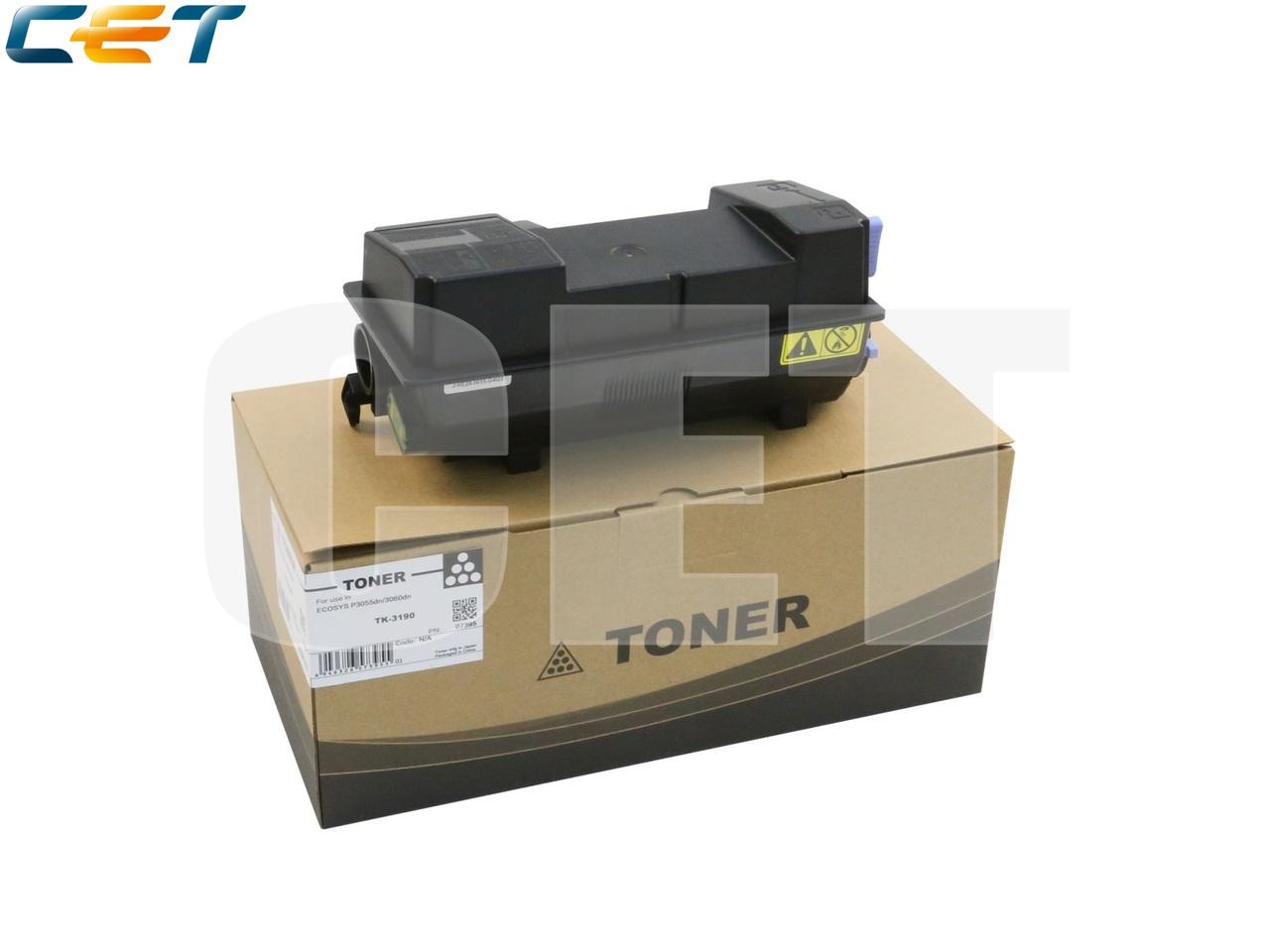 Тонер-картридж (PK9/PK10) TK-3190 для KYOCERA ECOSYSP3055dn (CET), 680г, 25000 стр., CET7395