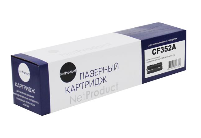 Тонер-картридж NetProduct (N-CF352A) для HP CLJ Pro MFPM176N/M177FW, Y, 1K