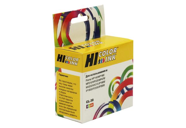 Картридж Hi-Black (HB-CL-38) для Canon PIXMAiP1800/2500/MP140/MX300, Color