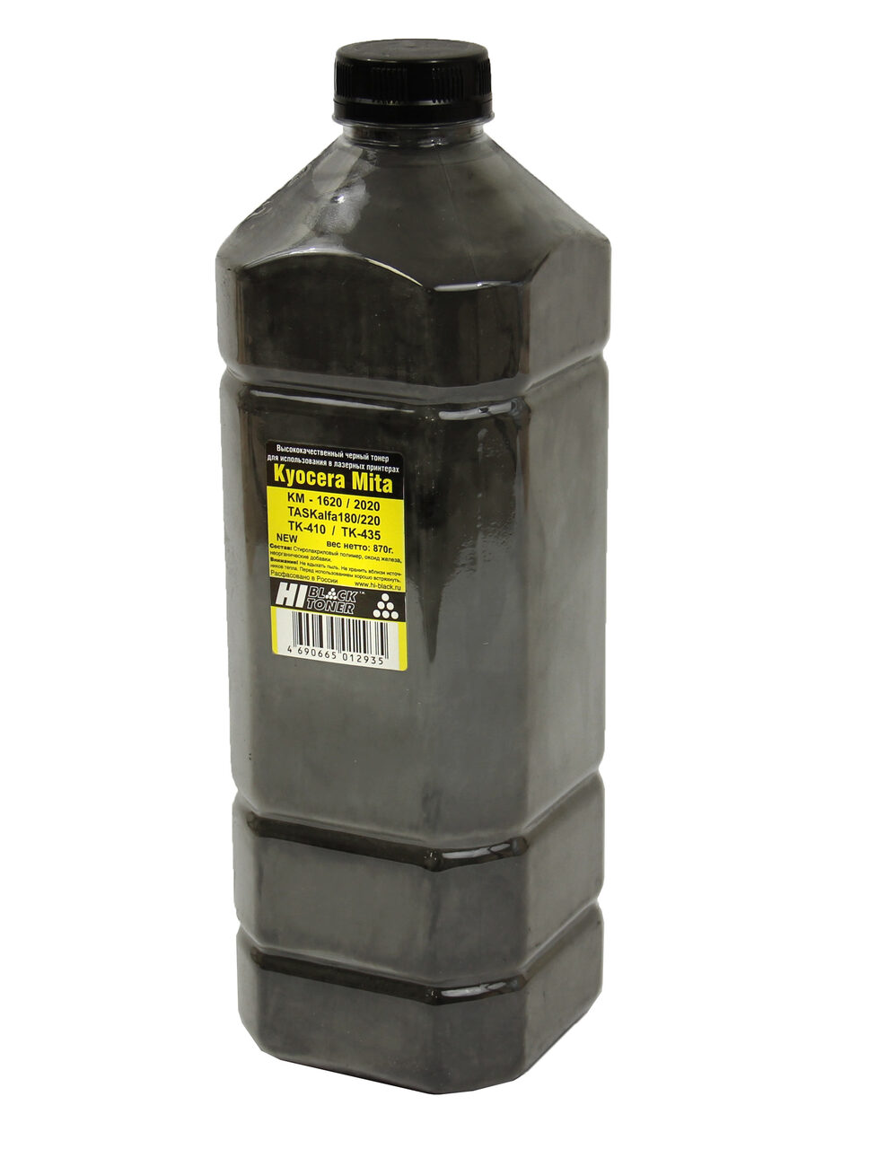 Тонер Hi-Black для Kyocera KM-1620/2020/TASKalfa180/220(TK-410/TK-435) Bk, 870г, канистра