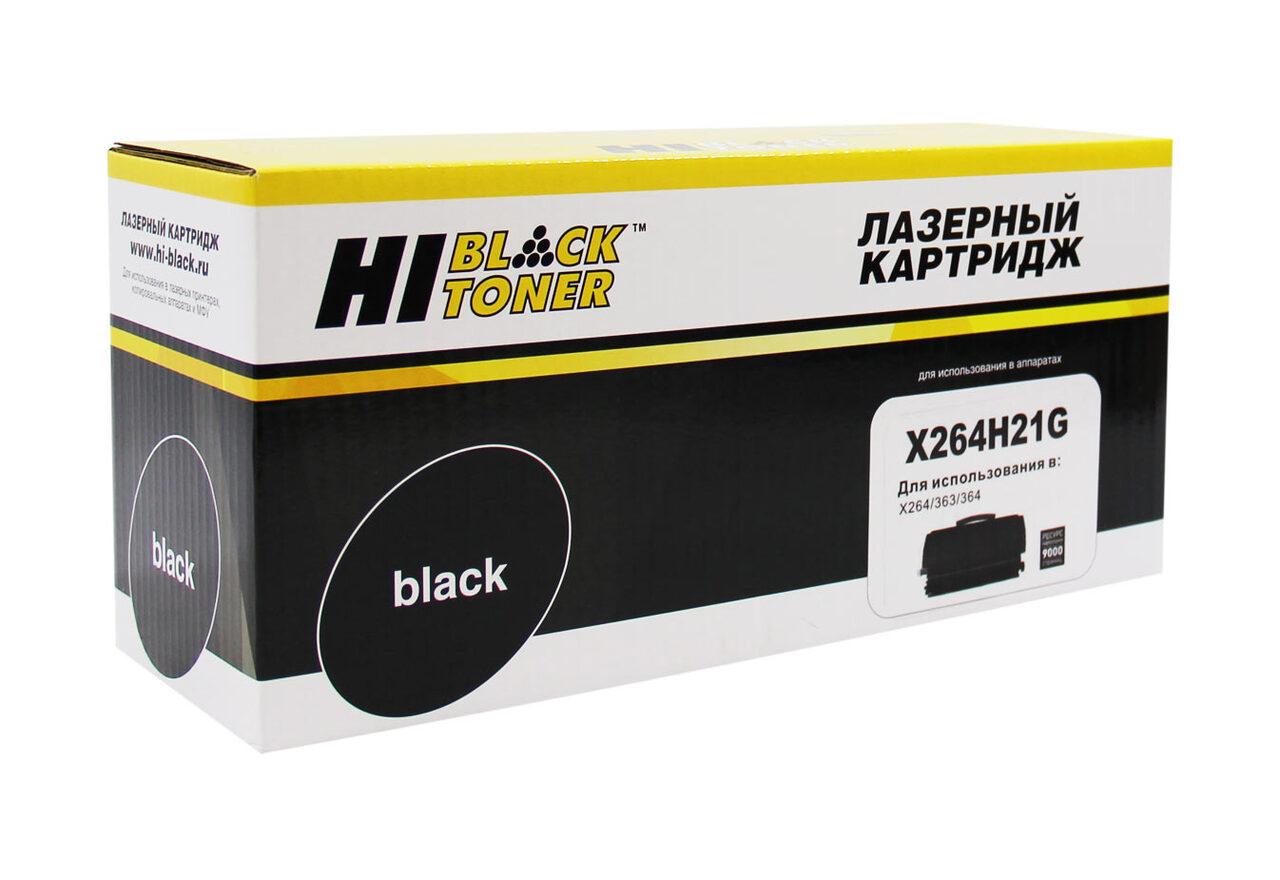 Тонер-картридж Hi-Black (HB-X264H21G) для LexmarkX264/363/364, 9K