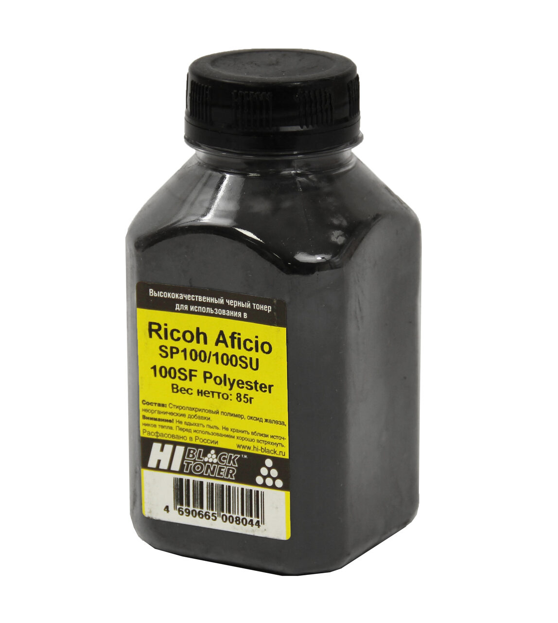 Тонер Hi-Black для Ricoh Aficio SP100/100SU/100SF, Polyester,Bk, 85 г, банка