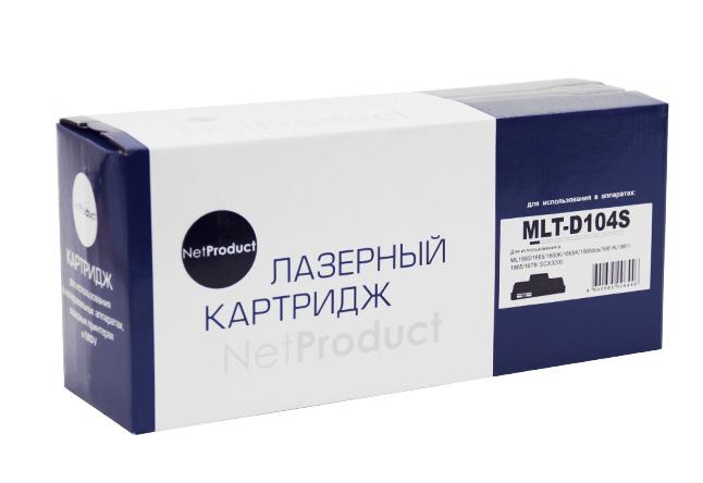 Картридж NetProduct (N-MLT-D104S) для SamsungML-1660/1665/1860/SCX-3200/3205, 1,5K