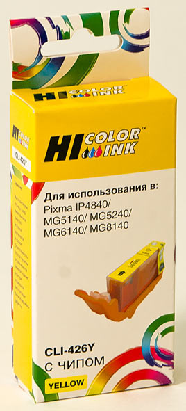 Картридж Hi-Black (HB-CLI-426Y) для Canon PIXMAMG5140/5240/6140/8140, Y
