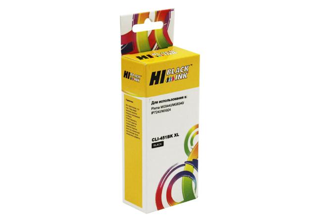 Картридж Hi-Black (HB-CLI-451XL-Bk) для Canon PIXMAiP7240/MG6340/MG5440, Bk