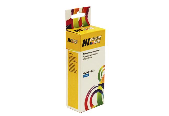 Картридж Hi-Black (HB-CLI-451XL-C) для Canon PIXMAiP7240/MG6340/MG5440, C
