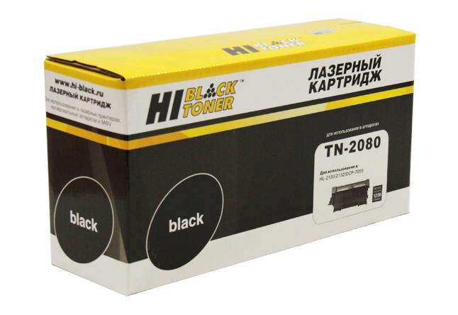 Тонер-картридж Hi-Black (HB-TN-2080) для BrotherHL-2130/DCP7055, 1,2K