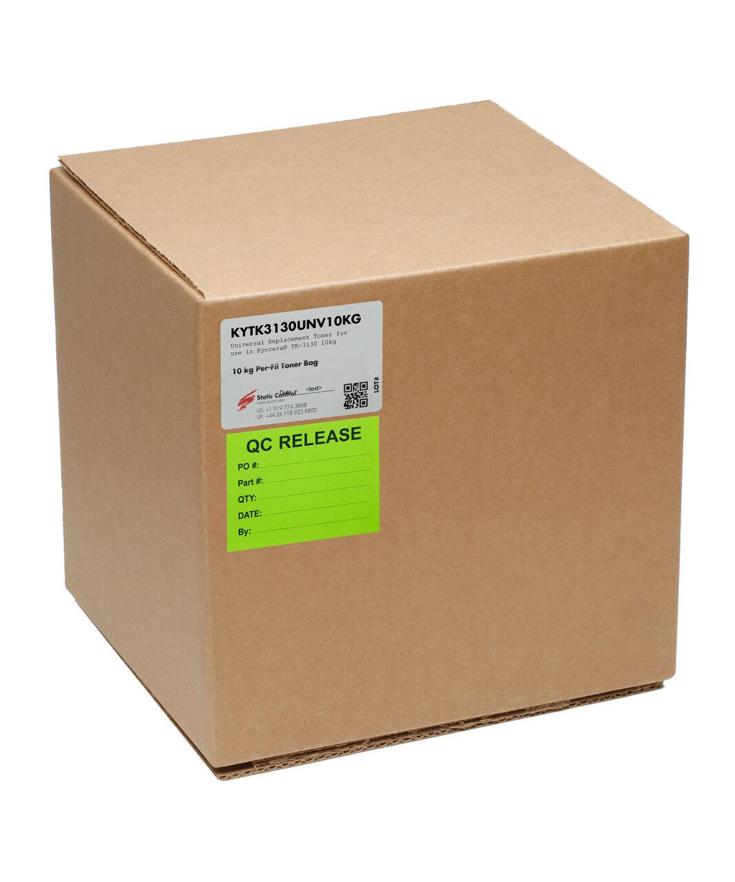 Тонер Static Control для Kyocera FS-4100/4200/4300DN(TK-3130), 10 кг, коробка KYTK3130UNV10KG