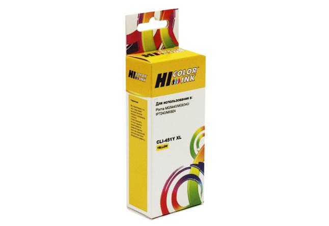 Картридж Hi-Black (HB-CLI-451XL-Y) для Canon PIXMAiP7240/MG6340/MG5440, Y