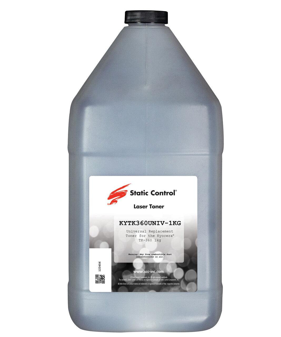 Тонер Static Control для Kyocera FS3900/3920/4000/402(TK-360), 1 кг, флакон KYTK360UNIV-1KG