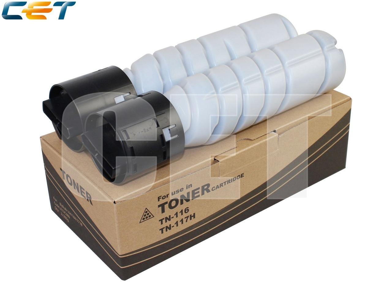 Тонер-картридж TN-116/TN-117H/TN-118/TN-119 для KONICAMINOLTA Bizhub 164/184/195/215/235 (CET), 280г, 12000 стр.,CET6701