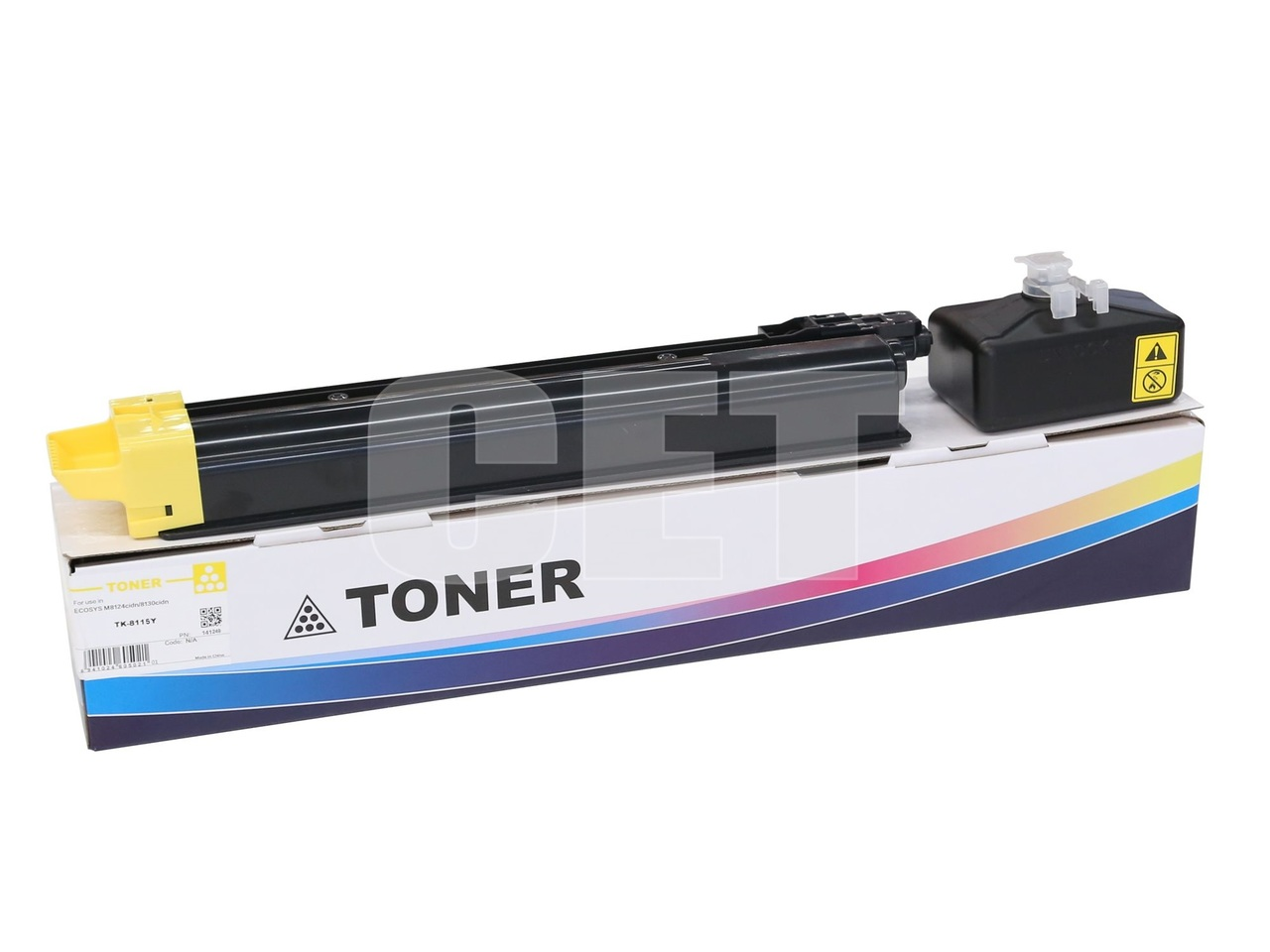 Тонер-картридж (PK207) TK-8115Y для KYOCERA ECOSYSM8124cidn/8130cidn (CET) Yellow, 105г, 6000 стр., CET141249