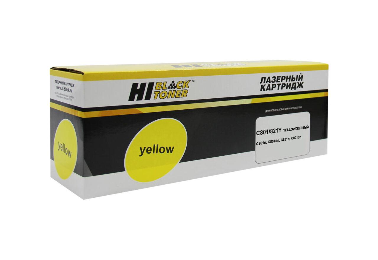 Тонер-картридж Hi-Black (HB-44643005/44643001) для OKIC801/821, Y, 7,3K