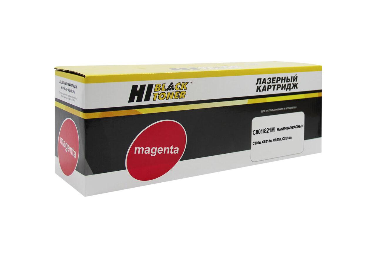 Тонер-картридж Hi-Black (HB-44643006/44643002) для OKIC801/821, M, 7,3K