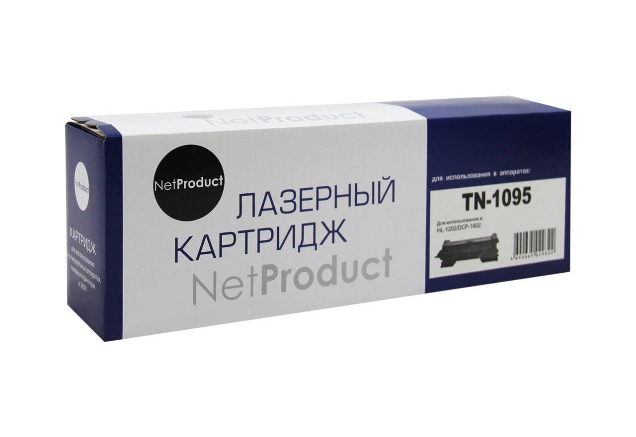 Тонер-картридж NetProduct (N-TN-1095) для BrotherHL-1202/DCP1602, 1,5K