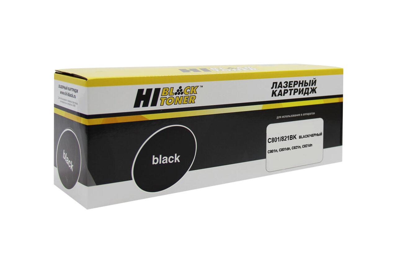 Тонер-картридж Hi-Black (HB-44643008/44643004) для OKIC801/821, Bk, 7K