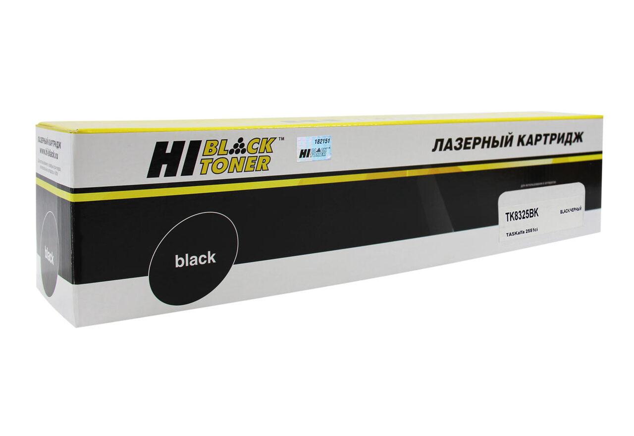 Тонер-картридж Hi-Black (HB-TK-8325Bk) для Kyocera TASKalfa2551ci, Bk, 18K