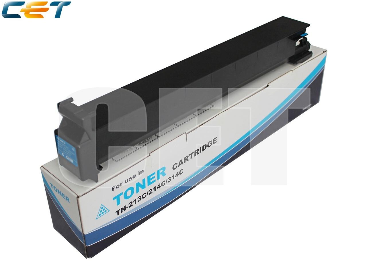Тонер-картридж TN-213C/214C/314C для KONICA MINOLTABizhub C200/C203/C253/C353 (CET) Cyan, 360г, 20000 стр.,CET6804