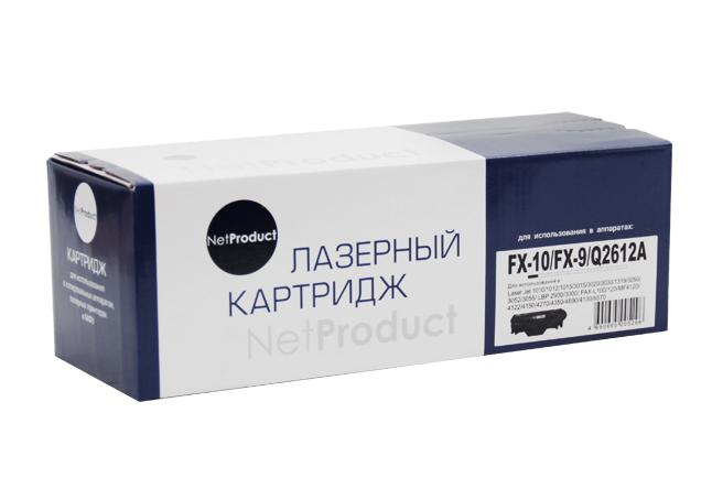 Картридж NetProduct (N-FX-10/9/Q2612A) для Canon i-SensysMF4018/4120/4140/4150/4270, 2K