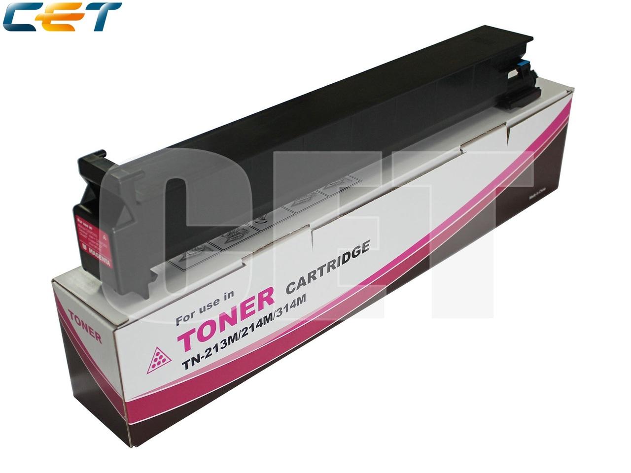 Тонер-картридж TN-213M/214M/314M для KONICA MINOLTABizhub C200/C203/C253/C353 (CET) Magenta, 360г, 20000 стр.,CET6803
