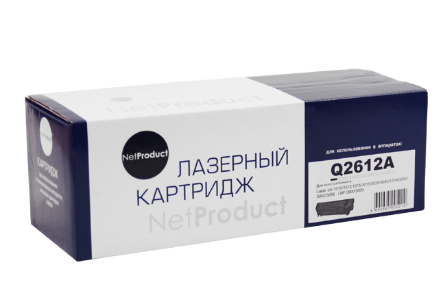 Картридж NetProduct (N-Q2612A) для HP LJ 1010/1020/3050,2K