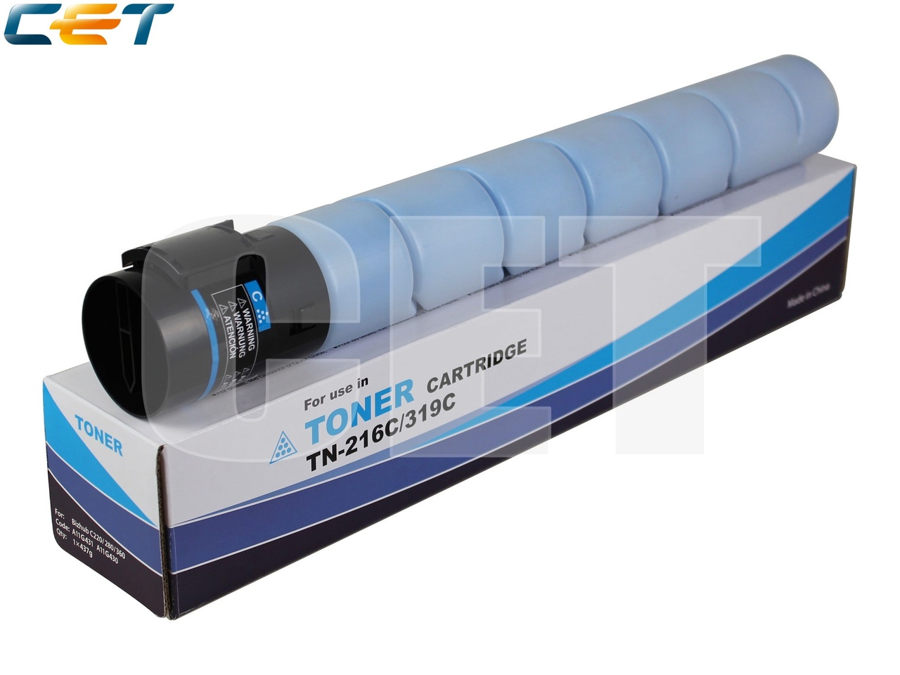 Тонер-картридж (NF5) TN-216C/319C для KONICA MINOLTABizhub C220/C280/C360 (CET) Cyan, 437г, 26000 стр., CET6840