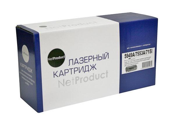 Картридж NetProduct (N-Q5949A/Q7553A) для HP LJ1160/1320/P2015/Canon 715, Универс., 3K