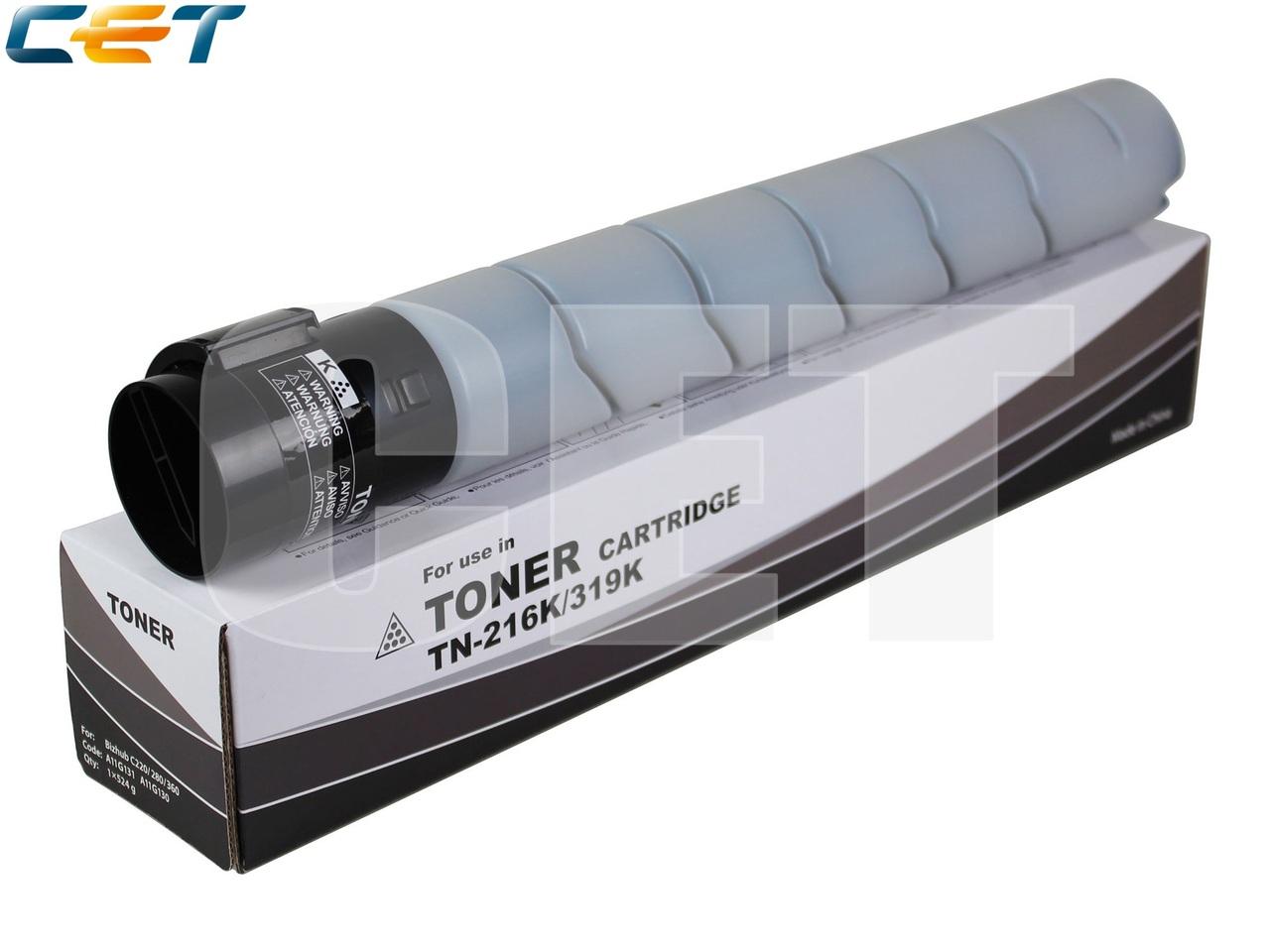 Тонер-картридж (NF5) TN-216K/319K для KONICA MINOLTABizhub C220/C280/C360 (CET) Black, 524г, 29000 стр., CET6839