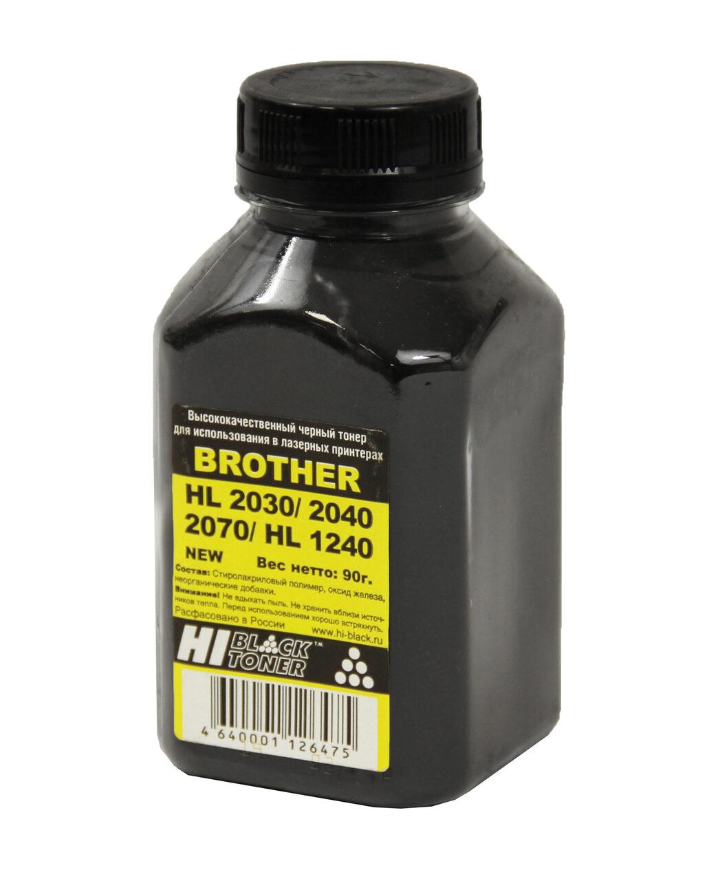 Тонер Hi-Black для Brother HL-2030/2040/2070/1240, Bk, 90 г,банка