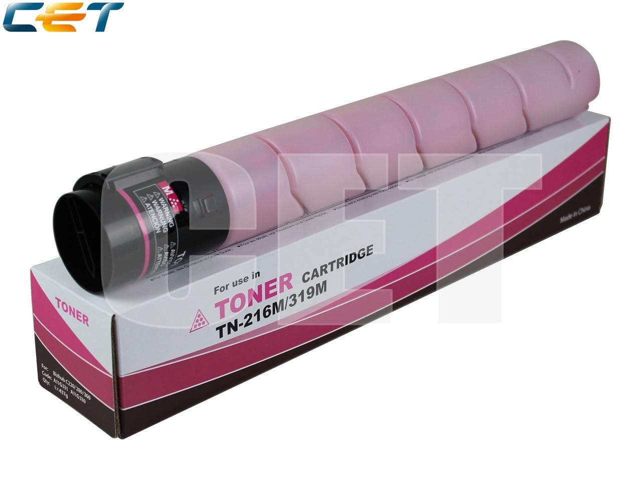 Тонер-картридж (NF5) TN-216M/319M для KONICA MINOLTABizhub C220/C280/C360 (CET) Magenta, 437г, 26000 стр.,CET6841