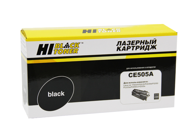 Картридж Hi-Black (HB-CE505A) для HP LJ P2055/P2035/Canon№719, 2,3K